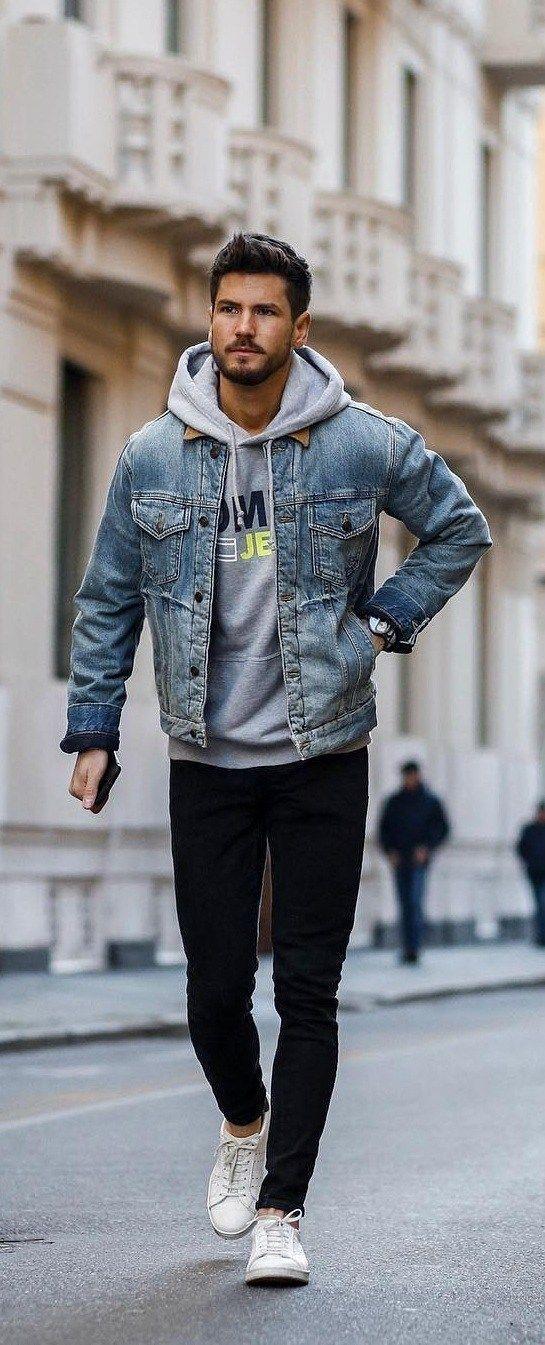 Street Style Guide für Männer zum Hoodie tragen …