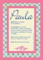 Resultado de imagen para significado del nombre maria paula