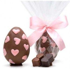 Ovos de Pascoa decorado Com Coração