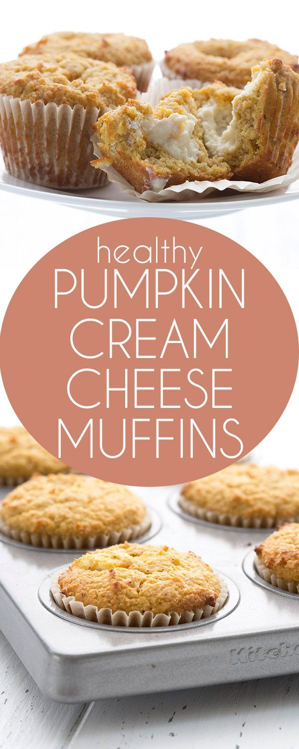 Low carb Pumpkin Cream Cheese Muffins. Move over, Starbucks, there's a healthier pumpkin muffin in town.
