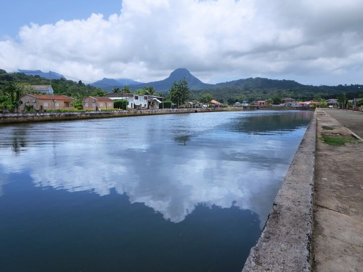 The Rio Papagaio in Santo Antonio drains much of northern Principe Island, São Tomé and Príncipe.
