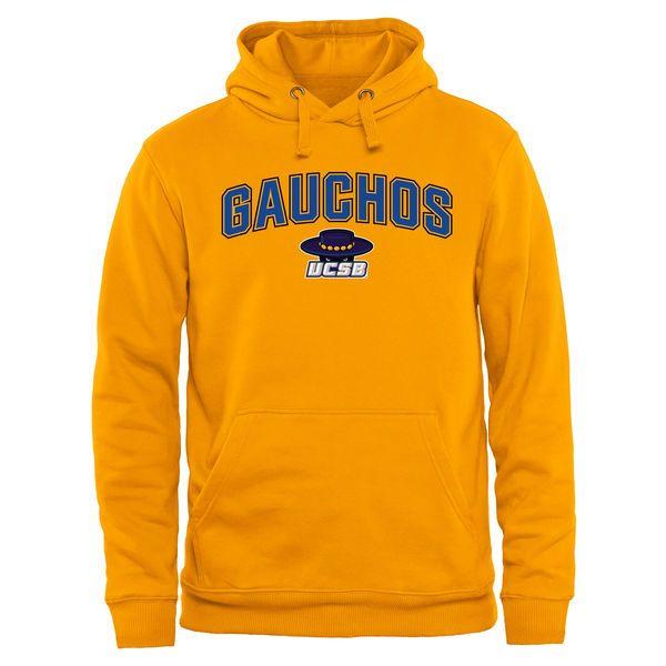 UC Santa Barbara Gauchos Proud Mascot Pullover Hoodie - Gold - $44.99