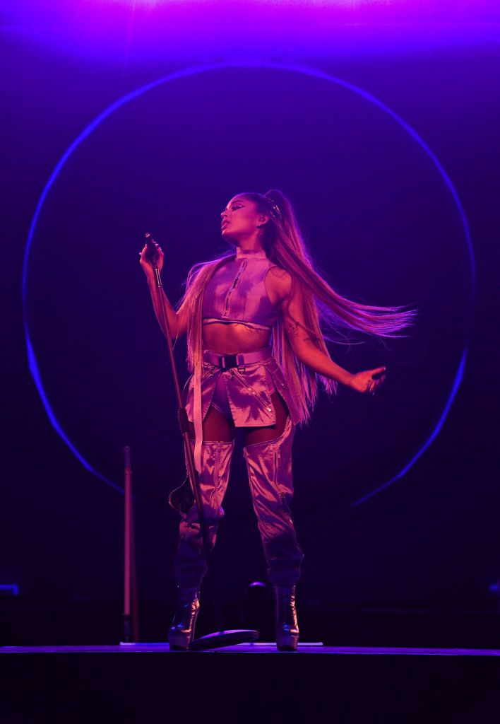 Ariana Grande performs onstage during the Sweetener World