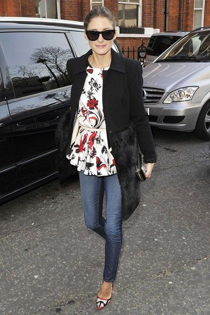 Olivia Palermo spotted arriving for the Anya Hindmarch show - London FW Fall 2013.