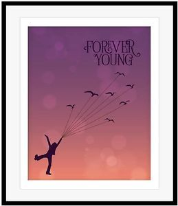 FOREVER YOUNG Rod Stewart Poster Song Lyrics Artwork Print 80s Soft Rock Music | eBay