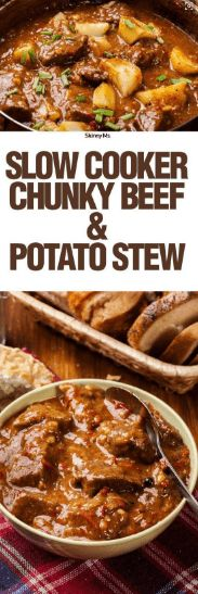 nice Slow Cooker Thick & Chunky Beef Stew Recipe