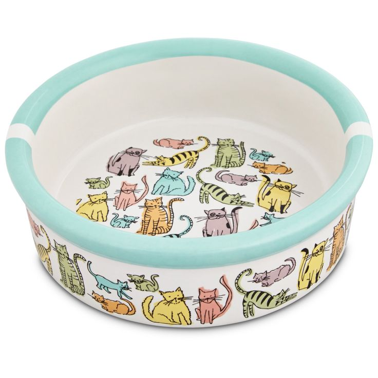 Harmony Cat Town Ceramic Cat Bowl 1 75 In 2020 Cat Bowls Cat Food Bowl Pet Bowls