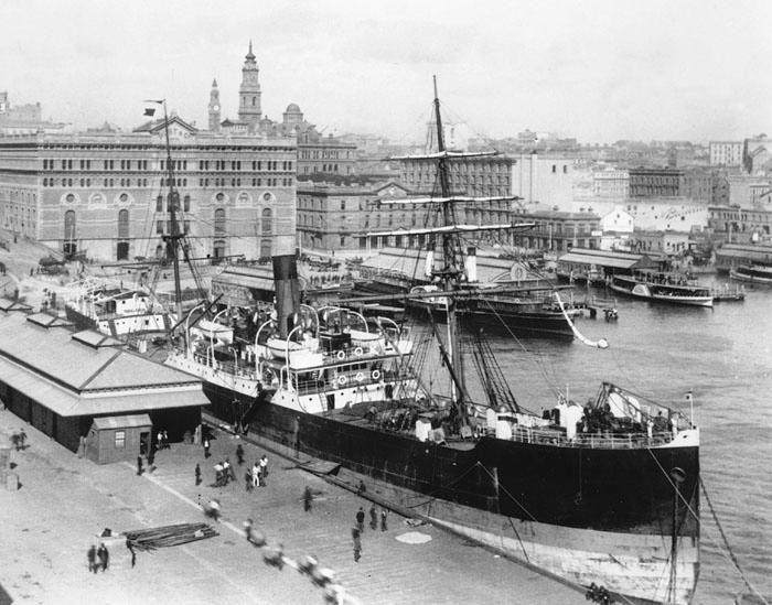 Circular Quay, Sydney Harbour 1900's