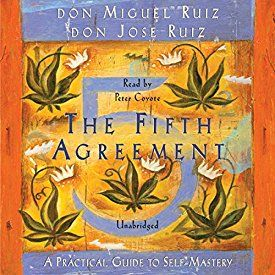 """Another must-listen from my #AudibleApp: """"The Fifth Agreement: A Practical Guide to Self-Mastery"""" by don Miguel Ruiz, narrated by Peter Coyote."""