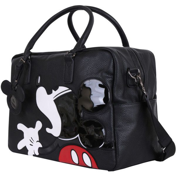Disney Vintage Mickey Mouse Oversized Casual Travel Tote Luggage... (445 BRL) ❤ liked on Polyvore featuring bags and luggage