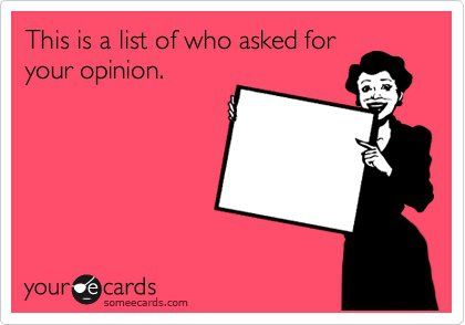 Opinion: Even, Ecards