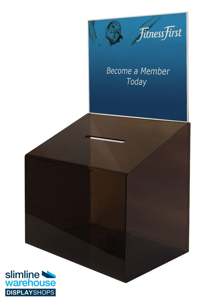 Lockable Plastic Collection Box - This plastic collection box is ideal for holding donations, suggestions, and comments in different locations so that you can gain feedback from customers or employees as well as collect money of different causes. The acrylic case is used in effectively in many different locations including universities, offices, restaurants, churches, information centres, museums, and at festivals or trade shows!