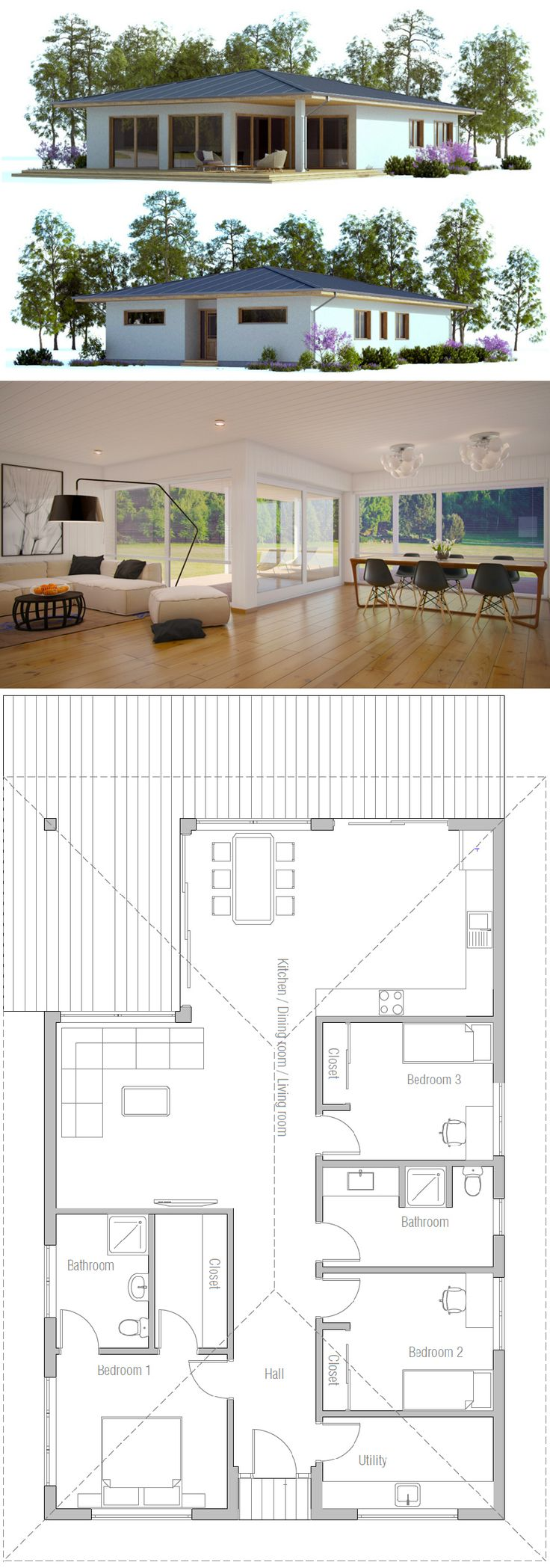 Small House Plan 383 best Small House