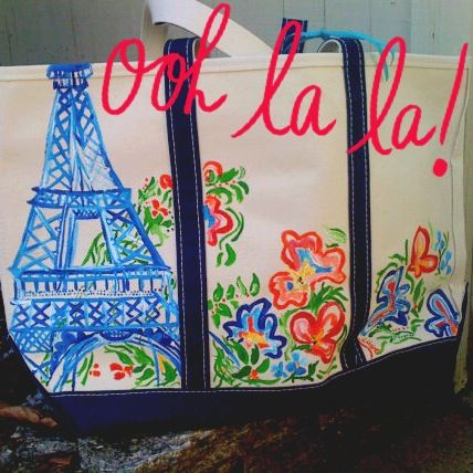 Win this gorgeous #FrancescaJoy hand painted 'Paris & Flowers' Tote!