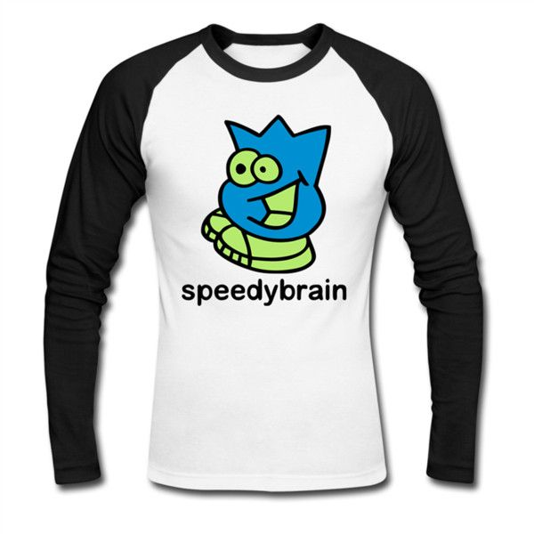 Speedy Brain Men's Baseball T-Shirt White/Black Men's Baseball T-Shirt... (48 BAM) ❤ liked on Polyvore featuring men's fashion, men's clothing, men's shirts, men's t-shirts, mens black and white striped t shirt, mens t shirts, mens black and white striped long sleeve t shirt, mens black white striped t shirt and mens baseball tee shirts
