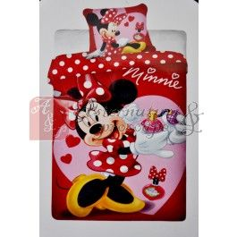 Lenjerie de pat din bumbac pentru copii Minnie Mouse parfume