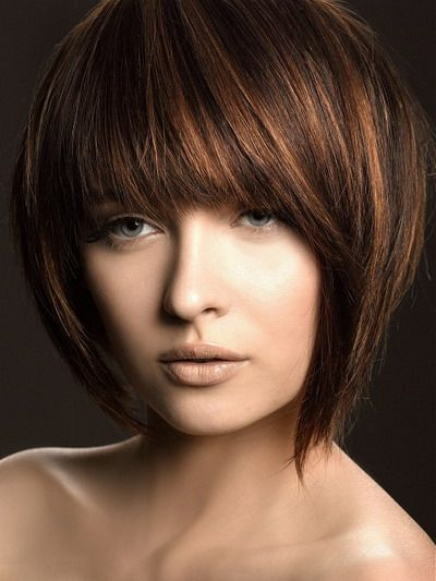 hairBobs Haircuts, Hair Colors, Bobs Hairstyles, Bob Hairstyles, Shorts Bobs, Hair Style, Brown Hair, Highlights, Shorts Hairstyles