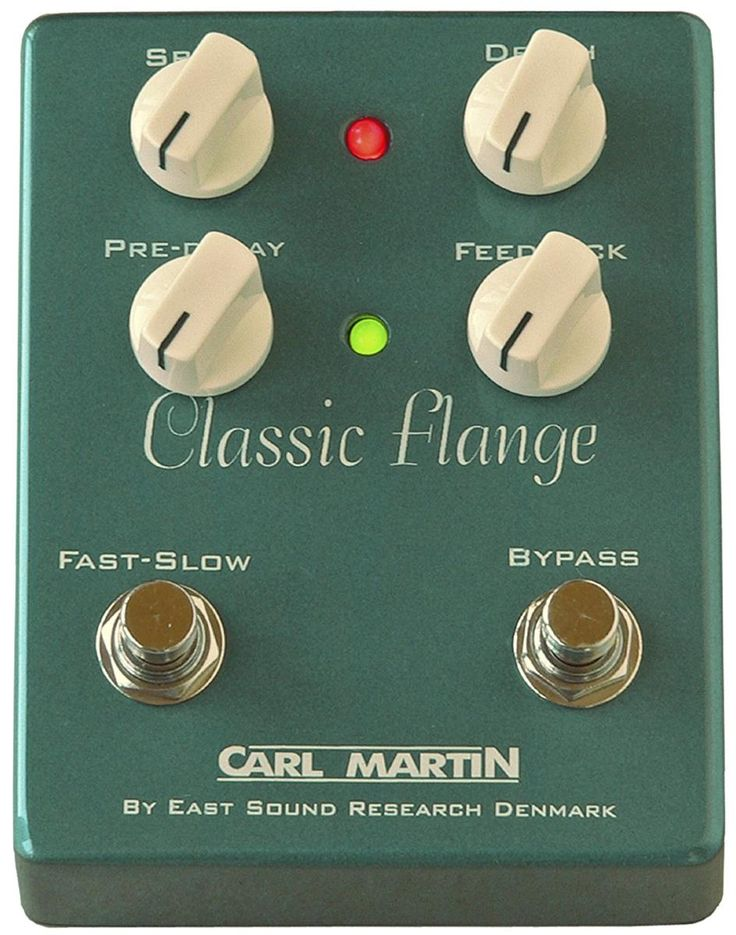 Carl Martin Classic Flange.  It has a genuine sounding old school flange tone, which purists will surely appreciate. Carl Martin pedal players include big name virtuosos like Joe Bonamassa, Greg Howe, Pete Thorn, Andy Timmons and Carl Verheyen.   For a Guide to Flanger Pedals see http://www.guitarsite.com/flanger-pedal/
