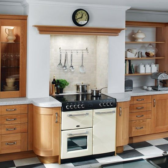 Galley Kitchen Range Cooker   With Lintel.