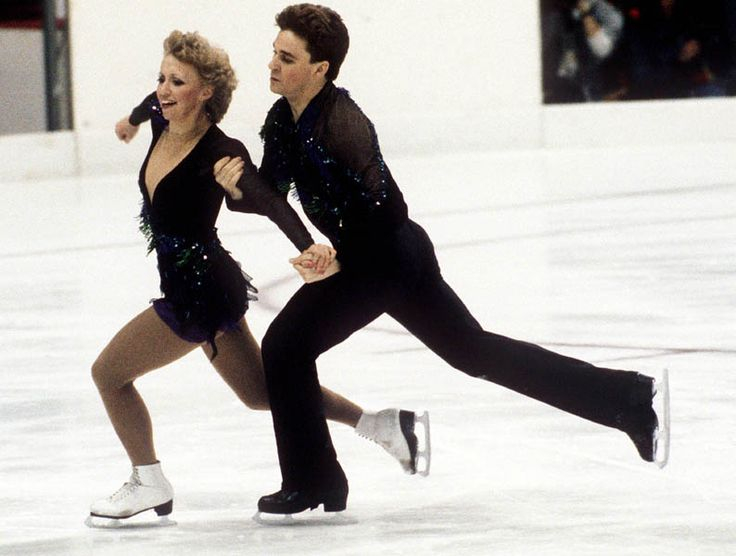 Le couple de danse du Canada John Thomas et Kelly Johnson participent au patinage artistique aux Jeux olympiques d'hiver de Sarajevo de 1984. (Photo PC/AOC)