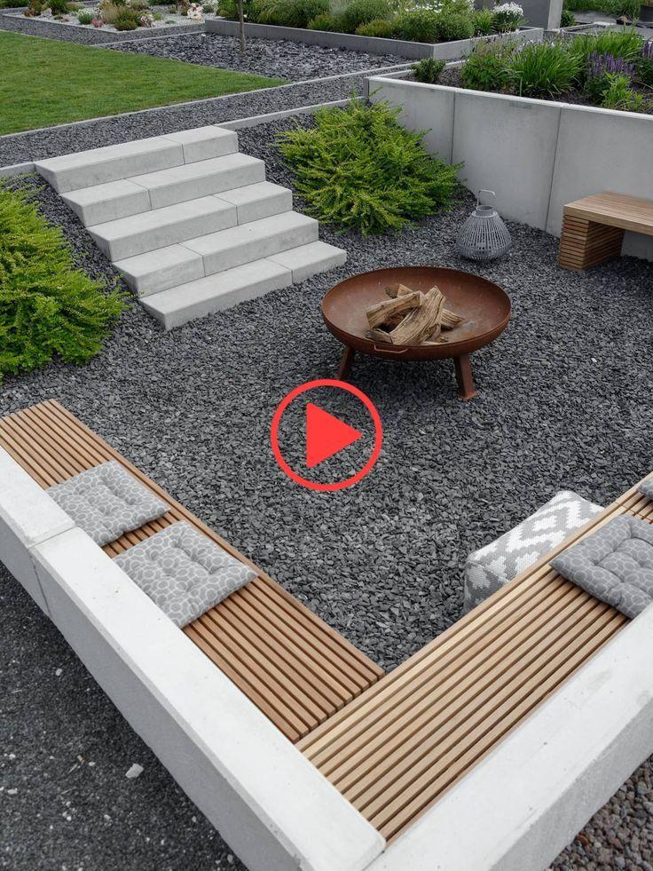 Garten Die Neue Feuerstelle Und Lichtkonzept Im Garten Mxliving World Best Landscaping Blogs Garden Feuerstelle Garten Garten Landschaftsbau Garten