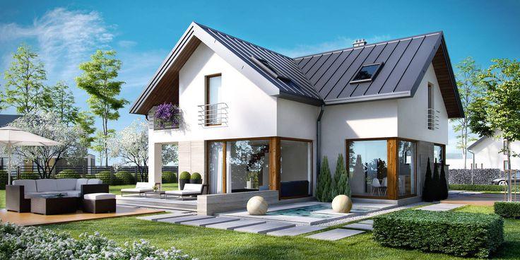 DOM.PL™ - Projekt domu CPT Koncept 18 CE - DOM CP1-18 - gotowy projekt domu