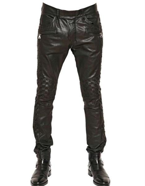 Кожаные джинсы фото