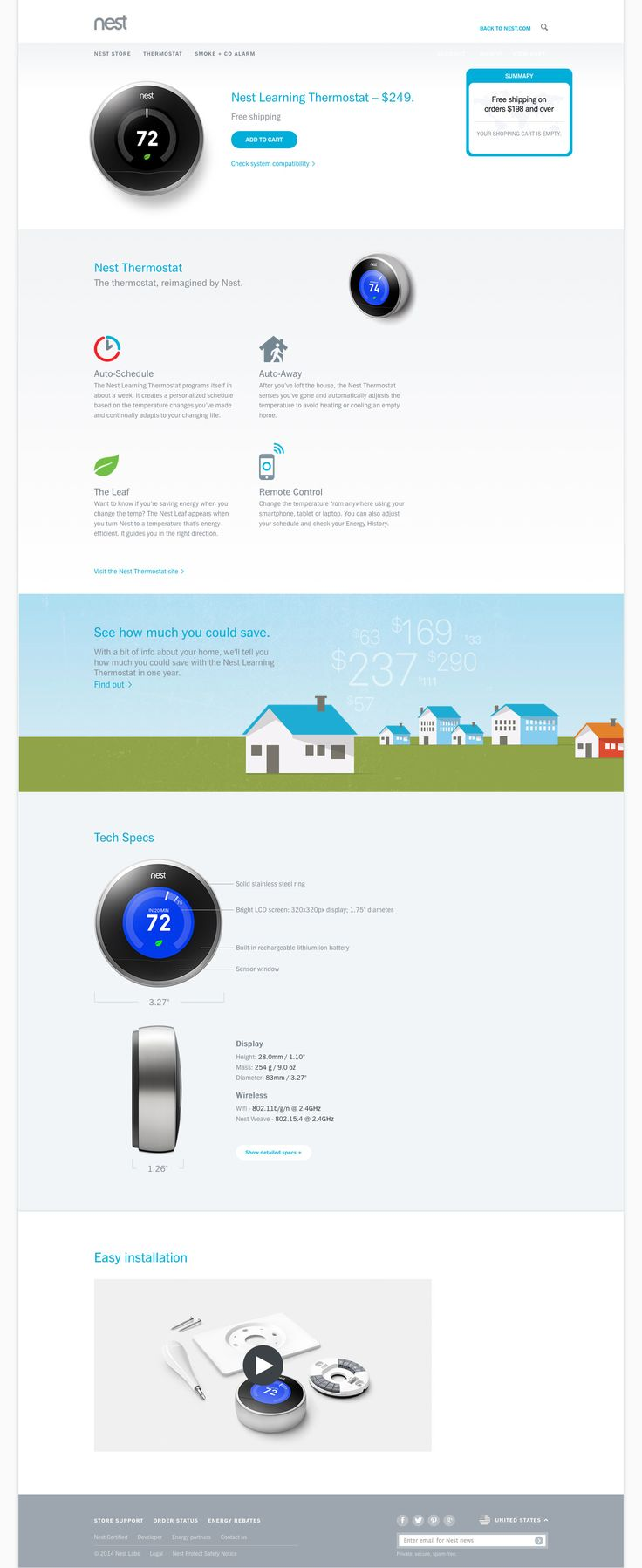 Nest Desktop Product Page - http://www.cartrepublic.com/gallery/2014/09/nest-desktop-product-page/