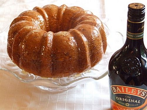 Irish Cream Bundt Cake Recipe Desserts with chopped pecans, yellow cake mix, vanilla instant pudding, large eggs, water, vegetable oil, irish cream liqueur, butter, water, white sugar, irish cream liqueur