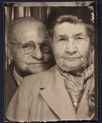 ** Vintage Photo Booth Picture **   These two are a hoot!: