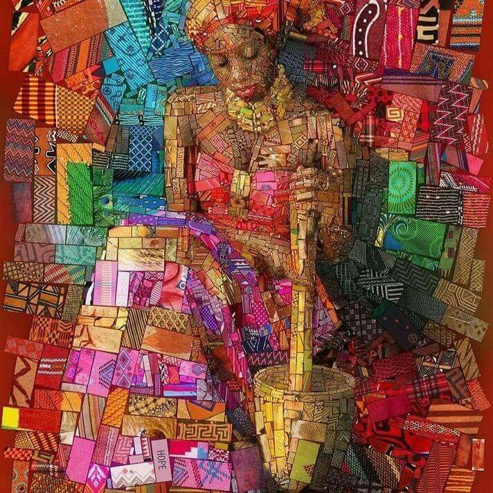 Art quilt created by Charis Tsevis. Amazing!