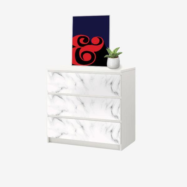 Ikea Hack Stickers Pour Commode Malm Ikea Marbre Blanc Malm Marbre Blanc Marbre