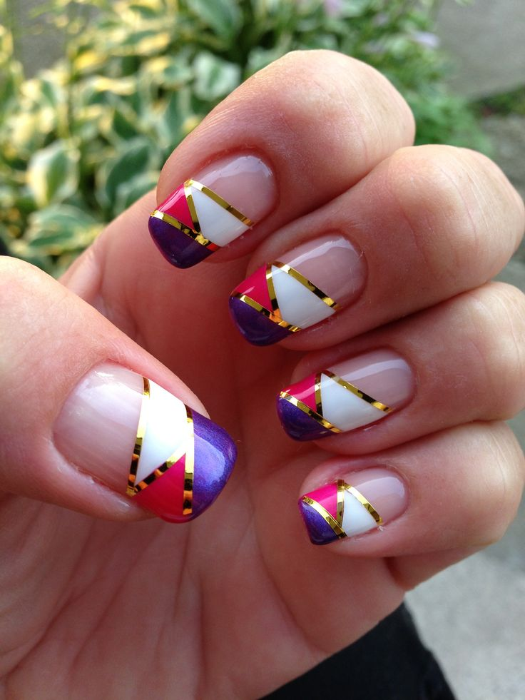 White, pink, purple and a touch of gold :)