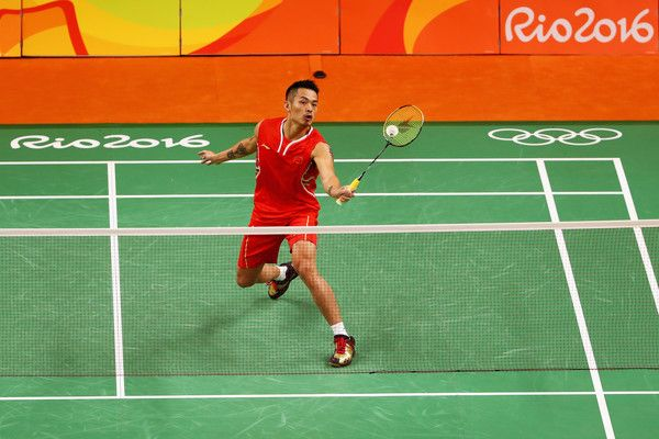 Lin Dan Photos - Lin Dan of China competes against David Obernosterer of Austria in the Mens Singles on Day 6 of the 2016 Rio Olympics at Riocentro - Pavilion 4 on August 12, 2016 in Rio de Janeiro, Brazil. - Badminton - Olympics: Day 6