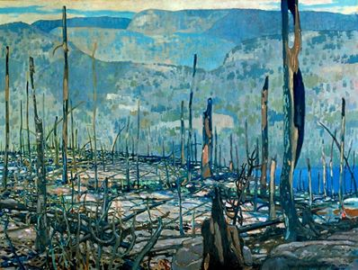 Fire-swept, Algoma Oil on canvas, 1920, by Franz Johnston (