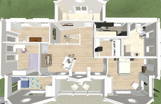 Den Vita (Dröm) Gården: Ett nytt New England hus i Djursholm