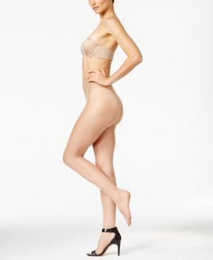 Wolford Luxe 9 Toeless Tights - Tan/Beige