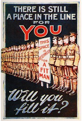 British Army recruitment poster during WW1
