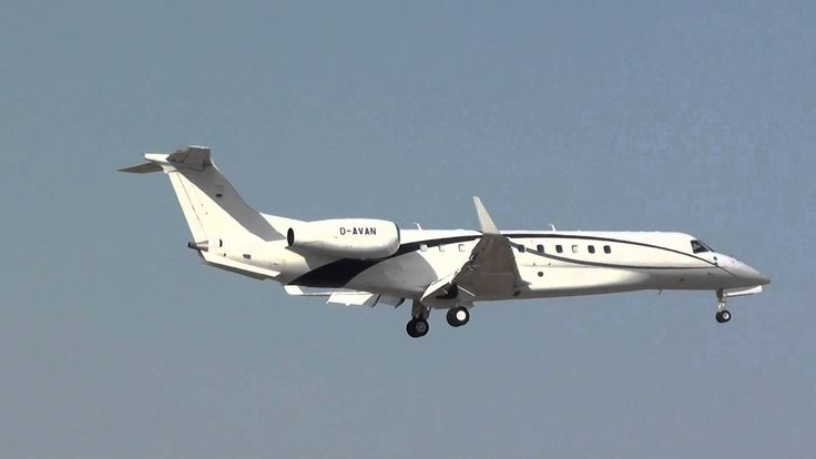 Private Embraer EMB-135BJ Legacy 600 D-AVAN Landing Malaga AGP