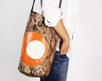 Red Leather Shoulder Bag/Red Crossbody Bag Soft by NeroliHandbags