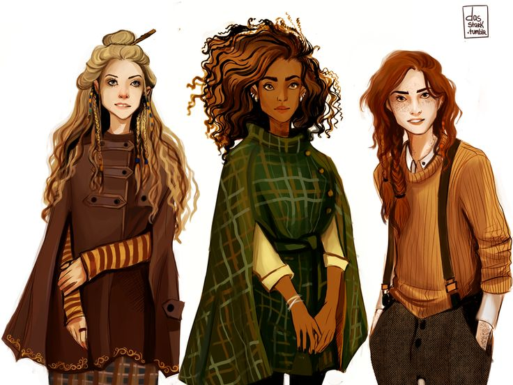 Witch gang by nastjastark on DeviantArt| Luna, Hermiine, Ginny