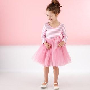 Pink Stripe Tulle Dress on Zulily