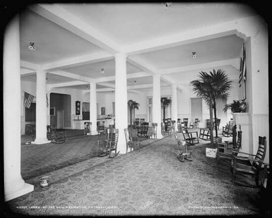 Petoskey, Michigan Arlington Hotel Lobby 1901