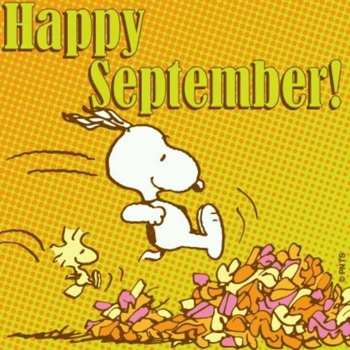 Happy September Leaves Snoopy Month September Hello September September  Quotes