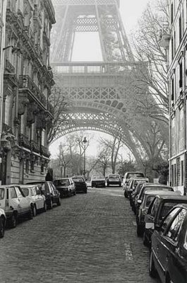 "Street View of ""La Tour Eiffel"" Art Print by Clay Davidson"