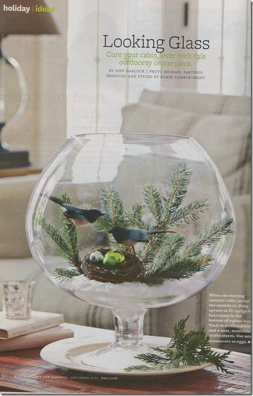 Did you happen to catch this beautiful photo in the December Better Homes and Gardens?
