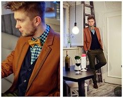 Lukasz Podlinski - La Redute Jacket, Kaleather Bowtie, Reyjay.Pl Skirt, Benevento Pants - Little Italy