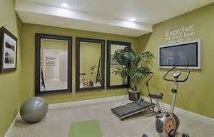 In home exercise room ...