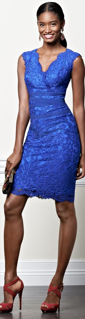 Color fashion Glam / Tadashi Shoji Lace Sheath Dress