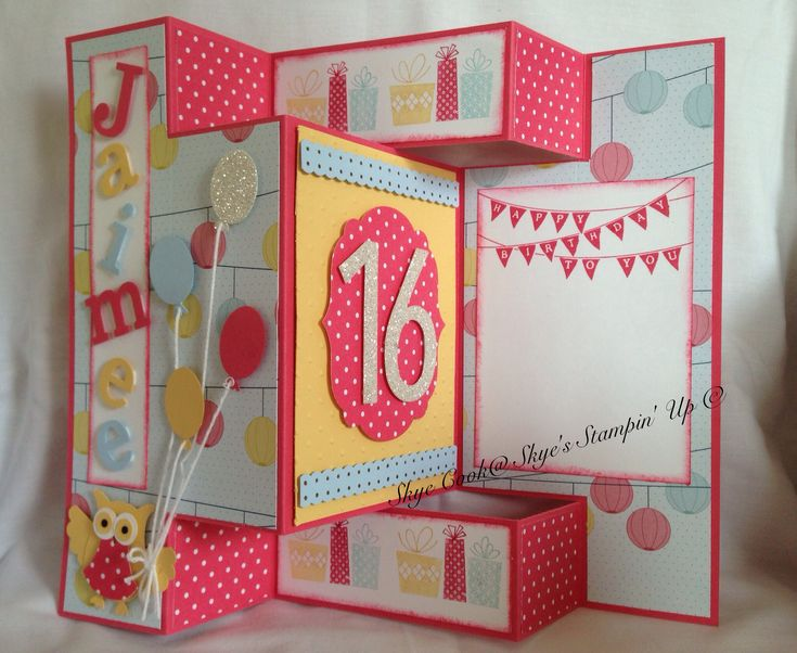 Personalised birthday card for a sweet 16 yr old girl. To see other Stampin' Up products I've used and created please check out my Facebook page (Skye's Stampin' Up) 23/9/13